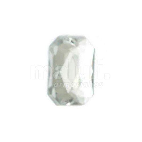 Chaton Acrilico Retangular Com Furo Aquarela 2O 13X18mm 100UN