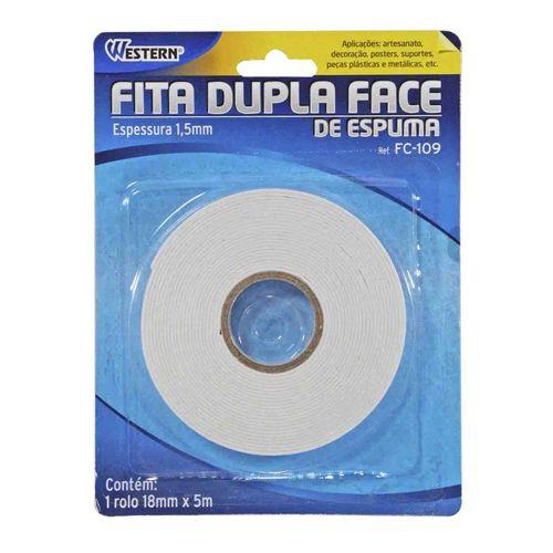 Fita Dupla Face Western FC-109 18mm 5M