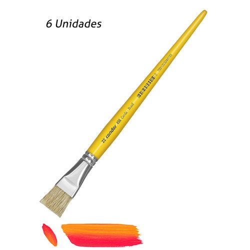 Pincel Artistico Chato Condor 456-22 6UN