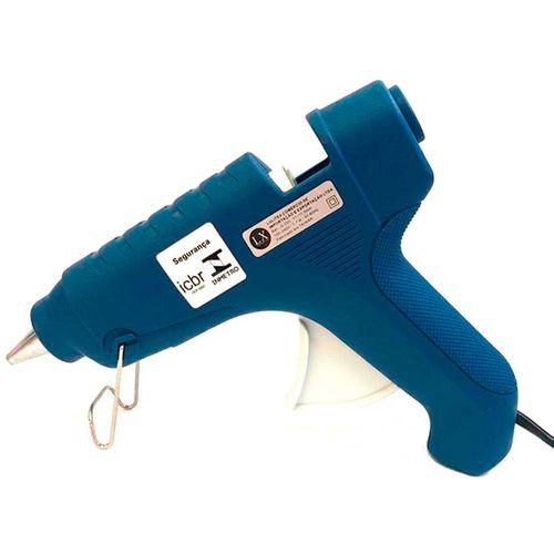 Pistola de Cola Quente Lulitex Bivolt 7W G250 Azul UN