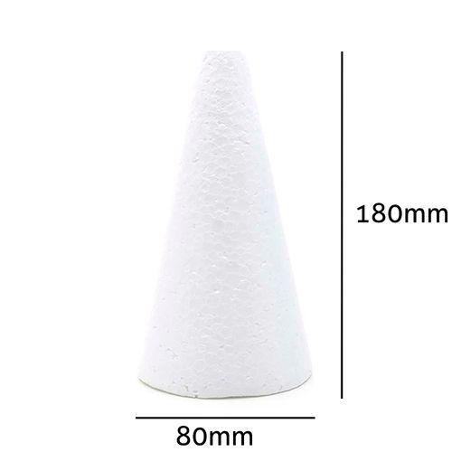 Cone de Isopor Styroform Maciço 80x180mm 10UN