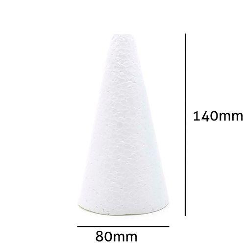 Cone de Isopor Styroform Maciço 80x140mm 10UN