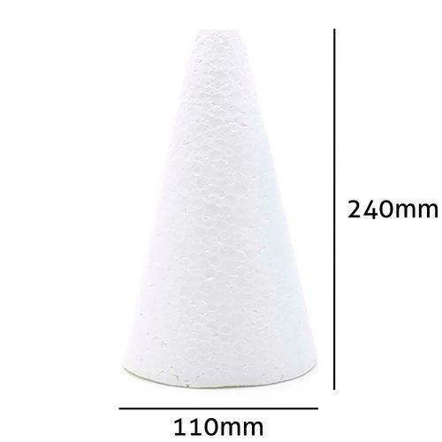 Cone de Isopor Styroform Maciço 110x240mm 5UN