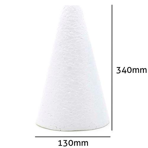 Cone de Isopor Styroform Maciço 130x340mm 2UN